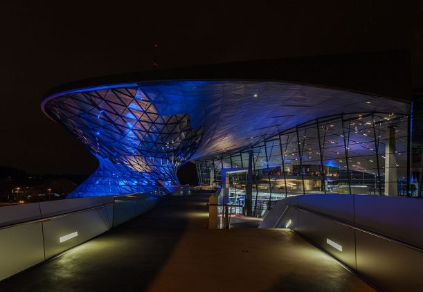 Photo: BMW Welt, Munich, Germany. Diego Delso, Wikimedia Commons, License CC-BY-SA 3.0
