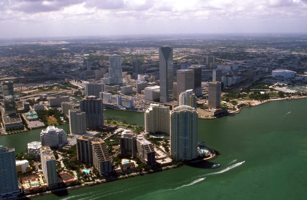 Photo: Miami downtown by Towpilot. This file is licensed under the Creative Commons Attribution-Share Alike 3.0 Unported license.