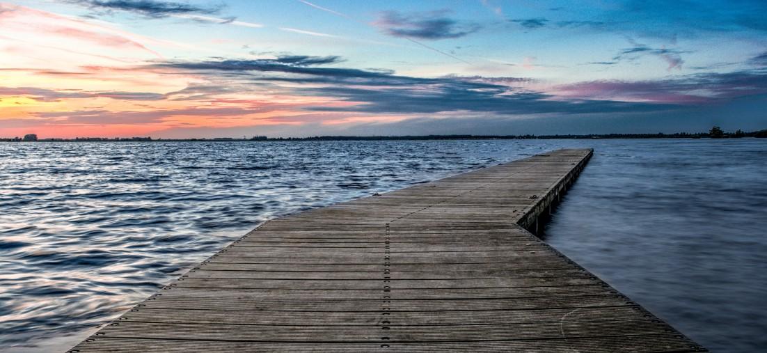Boardwalk onto ocean